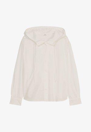 MIT LÄSSIGER KAPUZE - Button-down blouse - scandinavian white