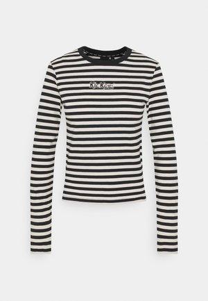 STRIPE LONGSLEEVE RINGER - T-shirt à manches longues - beige