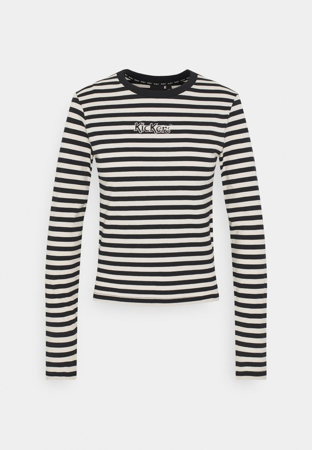 STRIPE LONGSLEEVE RINGER - Long sleeved top - beige