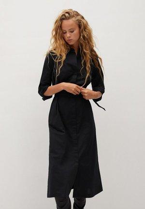 MEXI - Skjortekjole - schwarz