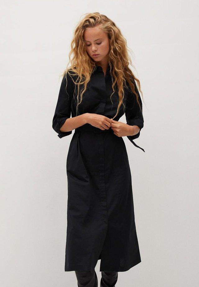 MEXI - Shirt dress - schwarz