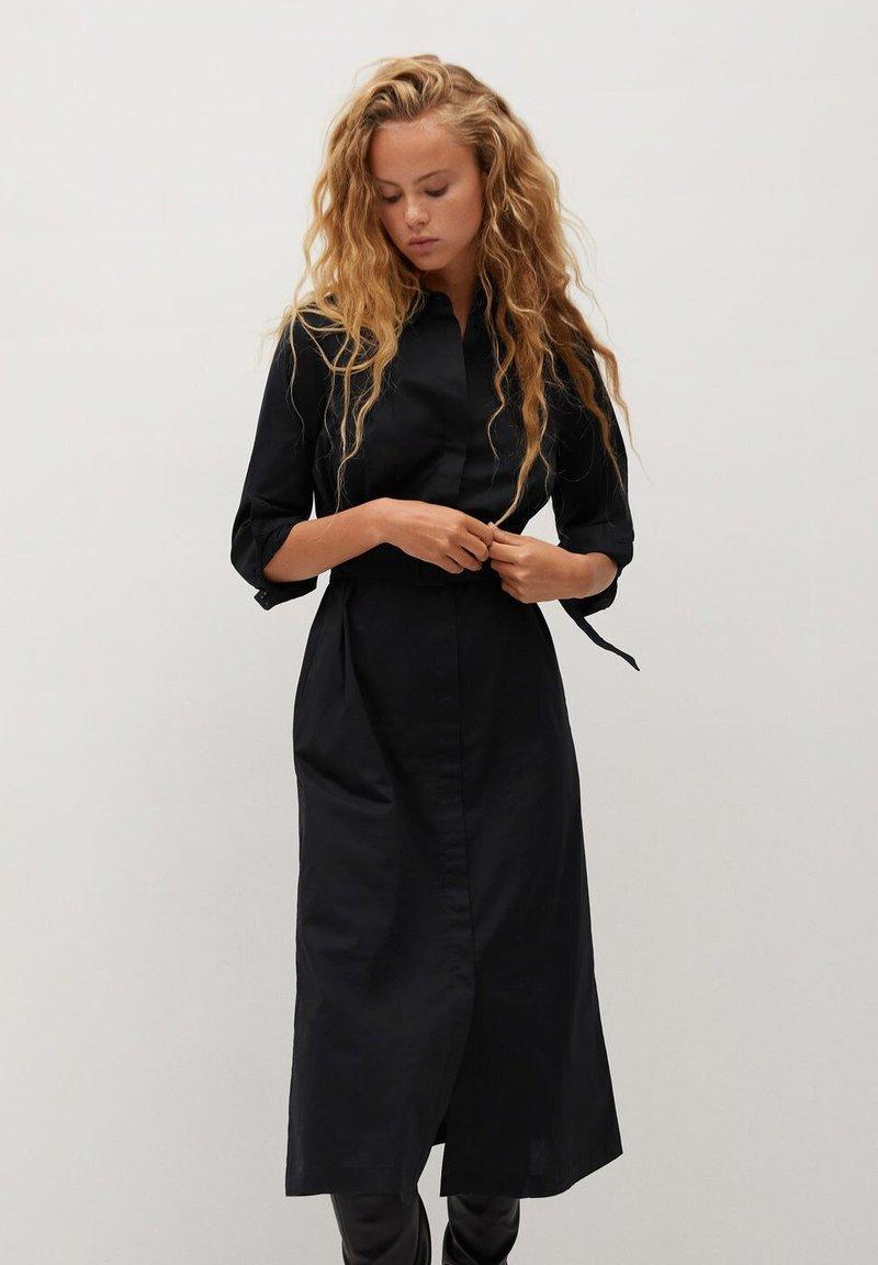 Mango - MEXI - Blusenkleid - schwarz