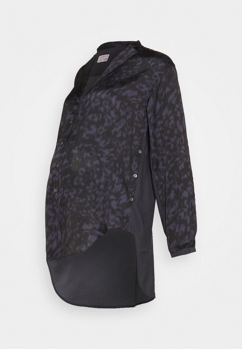 GLOWE - SIDE HUSTLE NURSING - Button-down blouse - grey