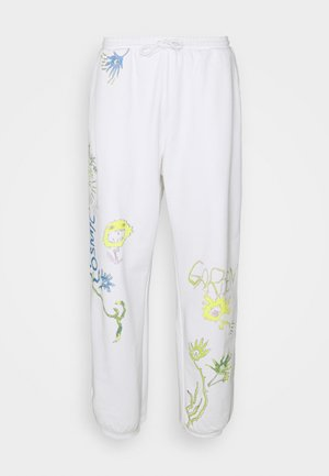 NEMESIA UNISEX - Tracksuit bottoms - white