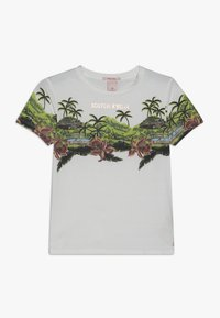 Scotch & Soda - SHORT SLEEVE TEE WITH TROPICAL - Triko s potiskem - off white - 0