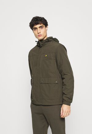 HOODED POCKET JACKET - Regenjas - trek green