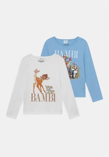 DISNEY BAMBI 2 PACK - Long sleeved top - light blue/off-white