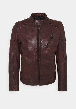 RACER JACKET - Leather jacket - oxblood