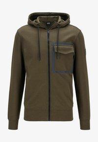 BOSS - Zip-up sweatshirt - open green - 4