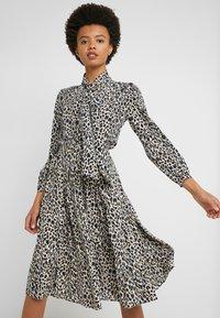 J.CREW - OCELOT PLEATED LEOPARD SKIRT - A-line skirt - natural multi - 3