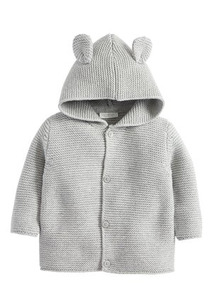 GREY KNITTED BEAR CARDIGAN (0MTHS-3YRS) - Kardigan - grey