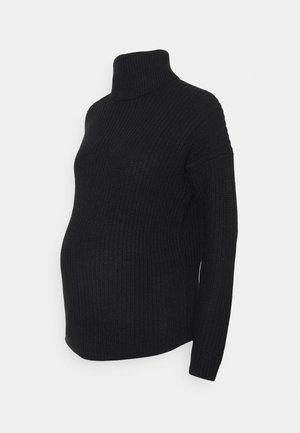 OLMMATILDA NICOYA ROLL - Sweter - black