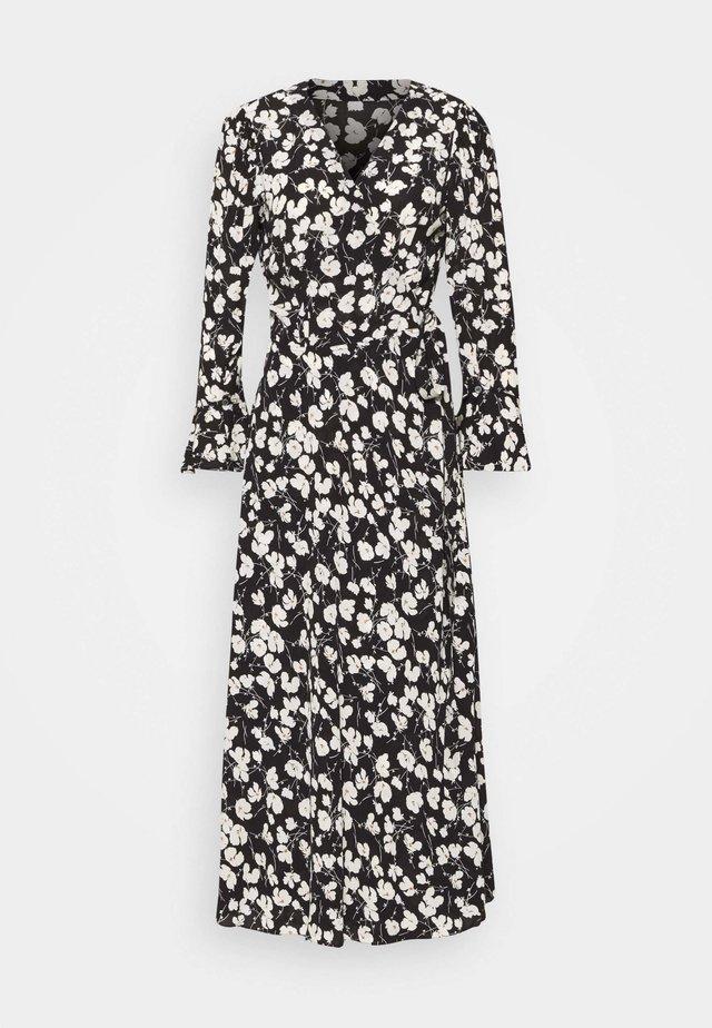 ANBELE LONG SLEEVE CASUAL DRESS - Day dress - black/white