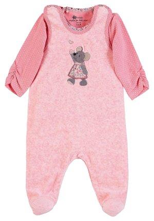 STRAMPLER-SET NICKI MAUS MABEL - Jumpsuit - mottled light pink