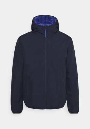 MAN JACKET FIX HOOD - Outdoor jacket - black/blue