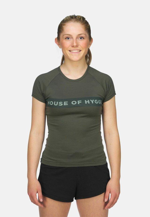 T-shirts med print - mørkegrønn