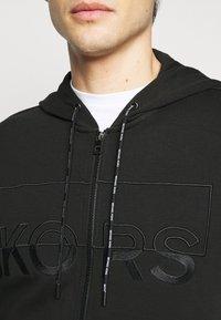 Michael Kors - KI HOODIE - Zip-up hoodie - black - 5