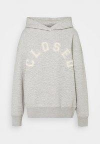 HOODIE WITH WHITE LOGO ACROSS CHEST - Sweatshirt - grey
