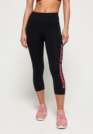 CORE SPORT ESSENTIAL  - Legginsy - black