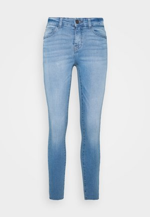 NMLUCY ANKLE - Jeans Skinny Fit - light blue denim