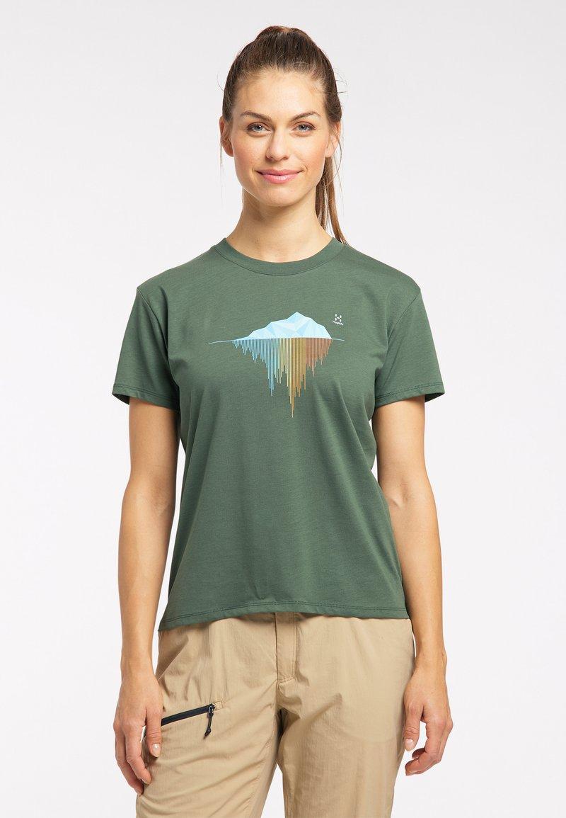 Haglöfs - Print T-shirt - fjell green