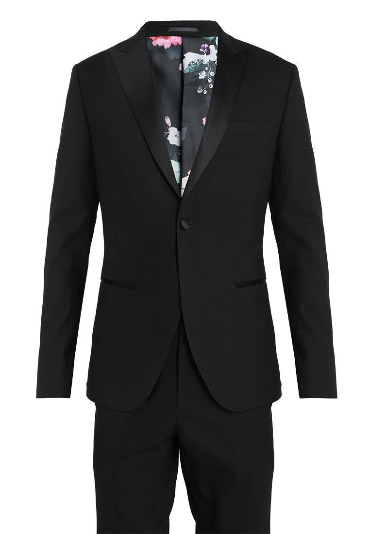 Homme BASIC PLAIN BLACK TUX SUIT SLIM FIT - Costume