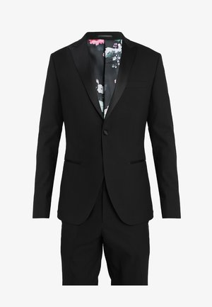BASIC PLAIN BLACK TUX SUIT SLIM FIT - Anzug - black