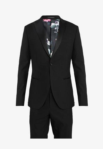 BASIC PLAIN BLACK TUX SUIT SLIM FIT - Oblek - black