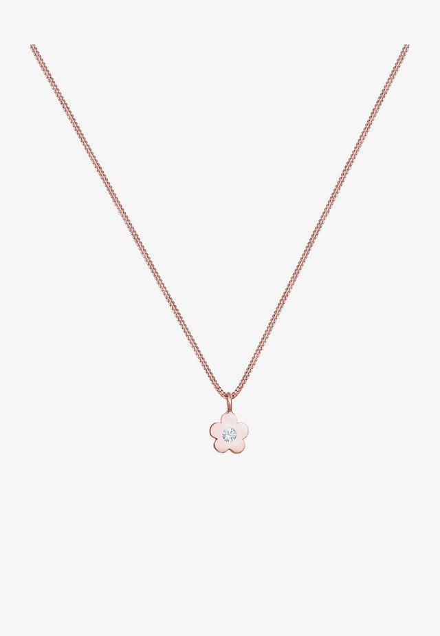 BLUMEN - Necklace - roségold
