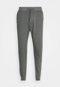 HOUNDSTOOTH STRETCH TERRY - Trousers - grey
