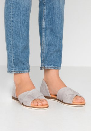 CHIUSI - Peeptoe ballet pumps - light grey