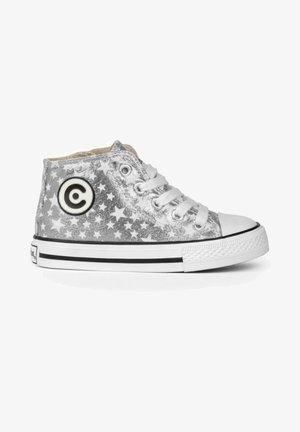 Zapatillas altas - plata