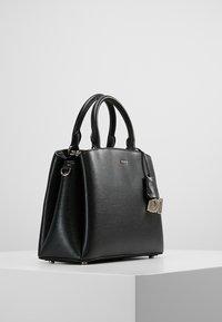 DKNY - MEDIUM SATCHEL - Handbag - black/gold - 3