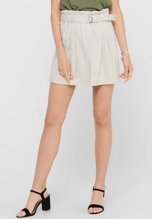 ONLNELDA SHORT SKIRT - A-line skirt - pumice stone