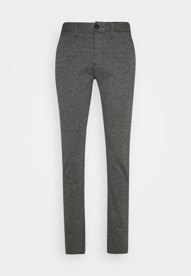HOUNDSTOOTH PANT - Pantaloni - grey