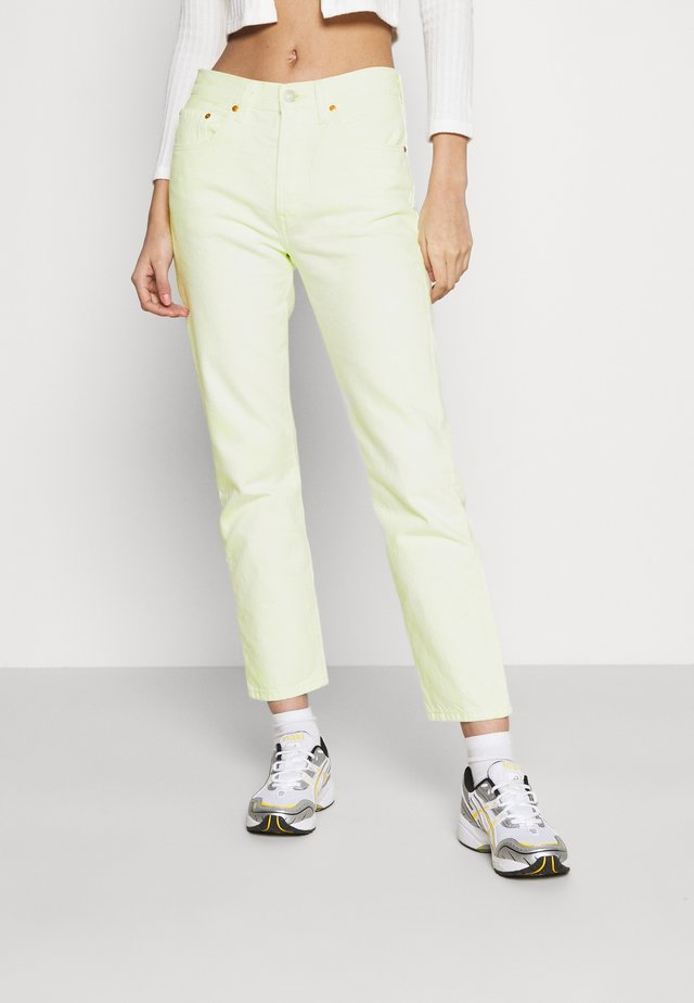501 CROP - Džíny Slim Fit - in the lime