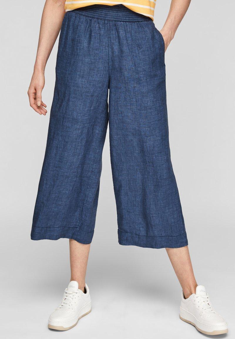 s.Oliver - Trousers - faded blue melange