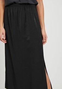 Object - MAXIROCK EINFARBIGER GESCHLITZTER - A-line skirt - black - 3