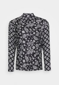 BLOUSE COLLAR LONG SLEEVED PRINTED - Button-down blouse - multi/black