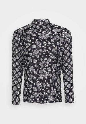 BLOUSE COLLAR LONG SLEEVED PRINTED - Skjortebluser - multi/black