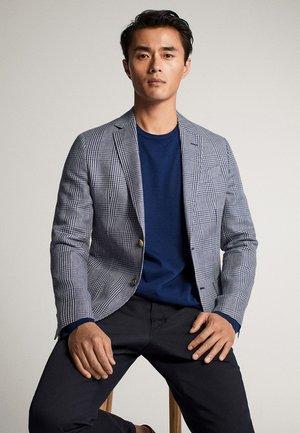 MIT KAROMUSTER - Blazer jacket - light blue