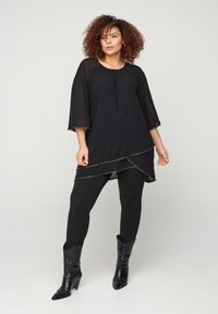 Zizzi - WITH 3/4-LENGTH SLEEVES - Tunic - black - 1