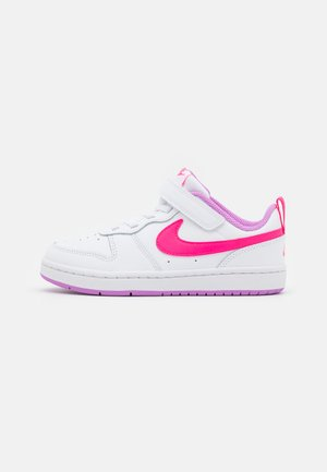 COURT BOROUGH 2  - Baskets basses - white/hyper pink/fuchsia glow