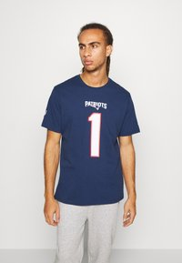 Fanatics - NFL CAM NEWTON NEW ENGLAND PATRIOTS ICONIC NAME & NUMBER GRAPHIC - Club wear - navy - 0