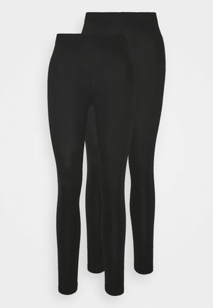 2er pack 7/8 legging - Leggingsit - black