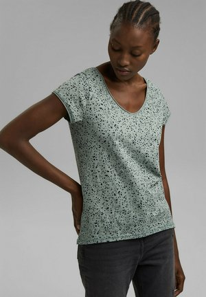 SLUB  - T-shirt imprimé - turquoise