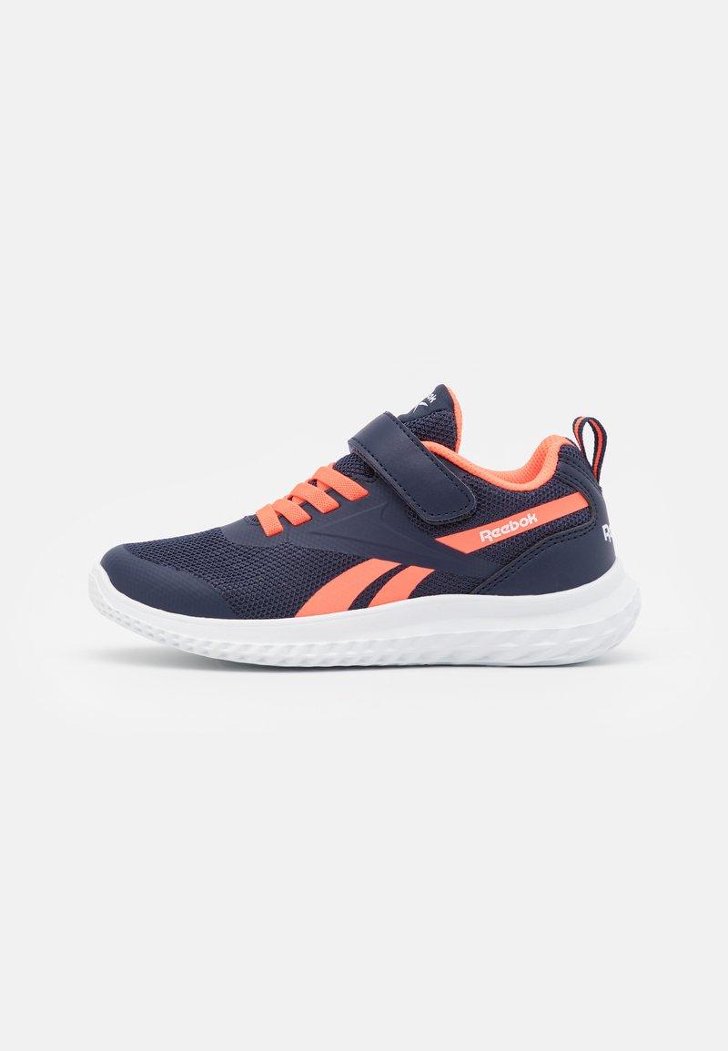 Reebok - RUSH RUNNER 3.0 UNISEX - Neutral running shoes - vector navy/orange/white