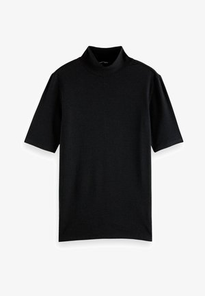 HIGH NECK SLIM FIT - T-shirt basic - black