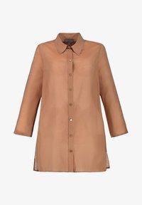 Ulla Popken - Button-down blouse - zimt - 1