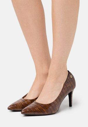 COURT SHOE - Classic heels - cognac